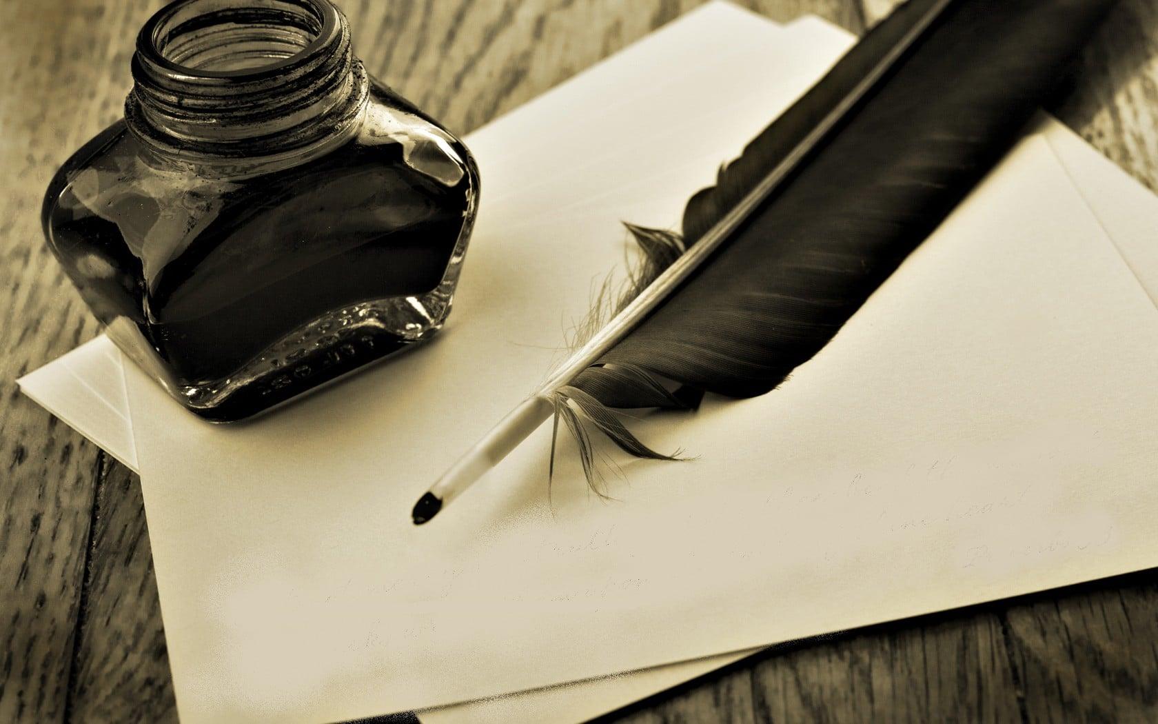 écriture-plume-Lettres d'A de Nicolas B-ParisBazaar-Briançon