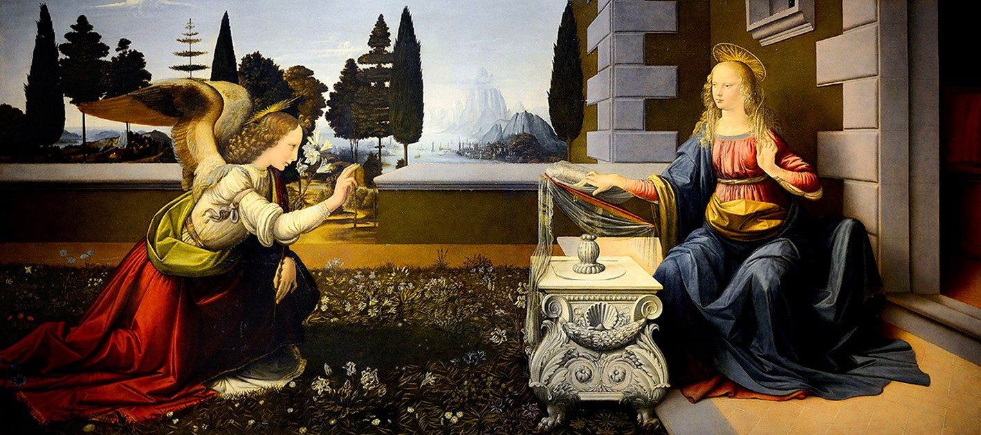 Un Détail, une Expo-Léonard de Vinci-L'Annonciation-ParisBazaar-Ghis