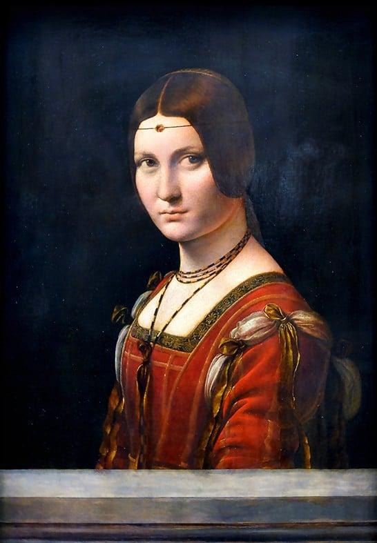 Un Détail, une Expo-Léonard de Vinci-la Belle Ferronnière-ParisBazaar-Ghis