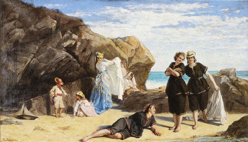 Flânerie Normande avec Eugène Le Poittevin-le-poittevin-bain-mer-etretat-ParisBazaar-Vicaire